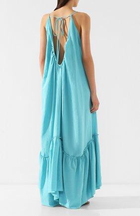 Платье из смеси хлопка и льна | Фото №4
