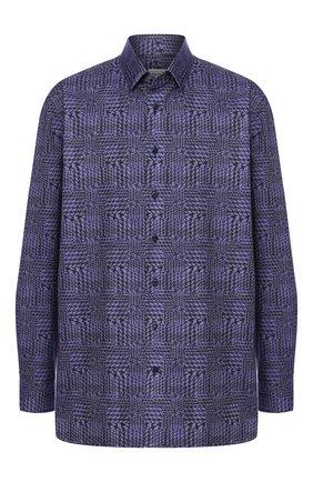 Мужская хлопковая рубашка с воротником кент ZILLI синего цвета, арт. MFQ-10902-46103/RZ01 | Фото 1