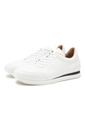 Мужские кожаные кроссовки BRIONI белого цвета, арт. QHGG0L/P8737 | Фото 1