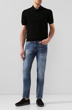 Мужские замшевые слипоны ALDO BRUE черного цвета, арт. AB8014G-NS | Фото 2