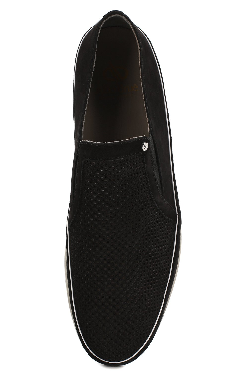 Мужские замшевые слипоны ALDO BRUE черного цвета, арт. AB8014G-NS | Фото 5