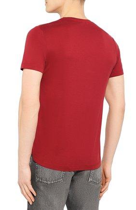 Мужская футболка из шелка и хлопка LORO PIANA красного цвета, арт. FAF6128 | Фото 4