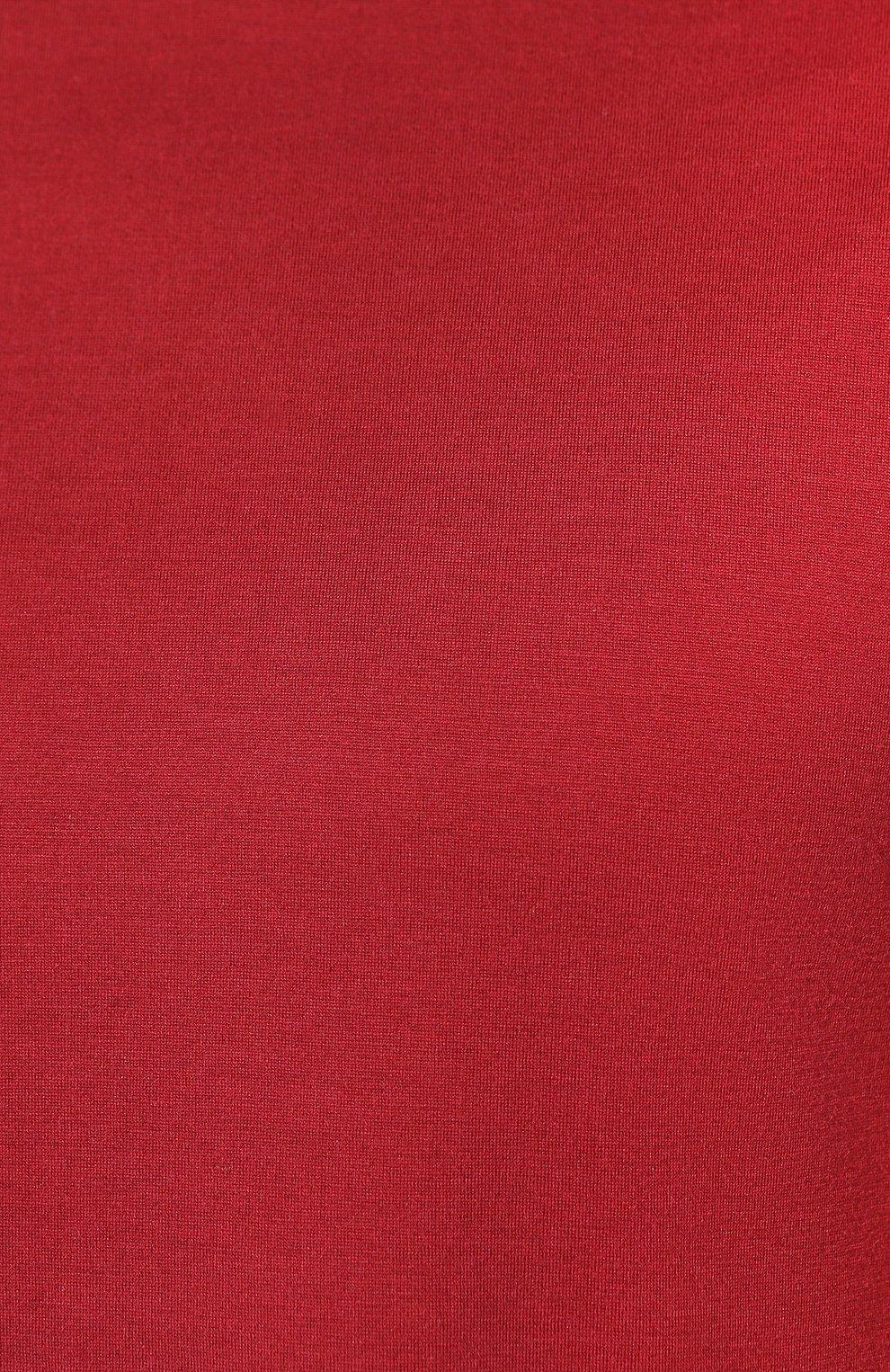 Мужская футболка из шелка и хлопка LORO PIANA красного цвета, арт. FAF6128 | Фото 5