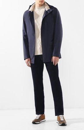 Мужские джинсы прямого кроя LORO PIANA темно-синего цвета, арт. FAI3420 | Фото 2