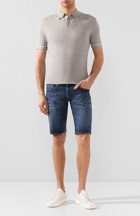 Мужские кожаные кеды  SANTONI белого цвета, арт. MBCN20440BARCMIFI50 | Фото 2