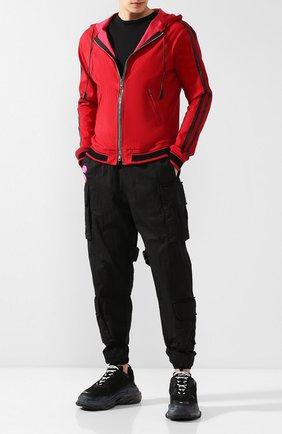 Мужские комбинированные кроссовки triple s BALENCIAGA черного цвета, арт. 541624/W0901 | Фото 2