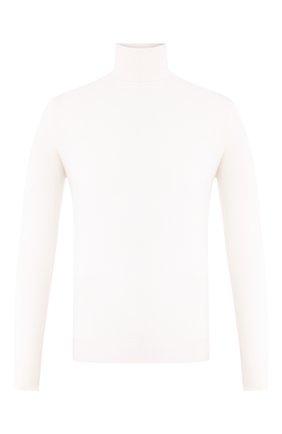 Мужской водолазка из смеси кашемира и шелка CRUCIANI белого цвета, арт. CU487B.D01F6V | Фото 1