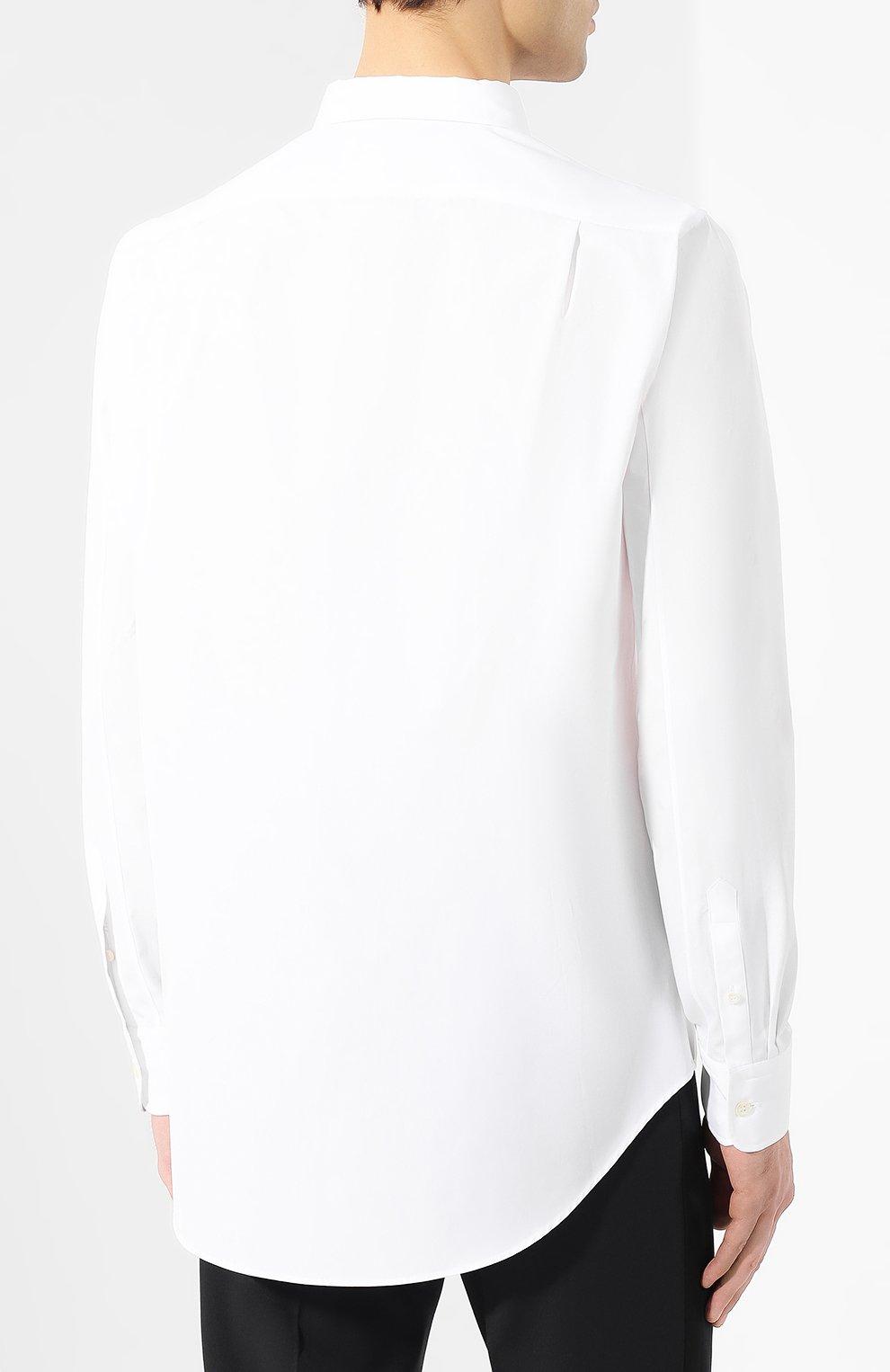 Хлопковая рубашка с воротником button down | Фото №4