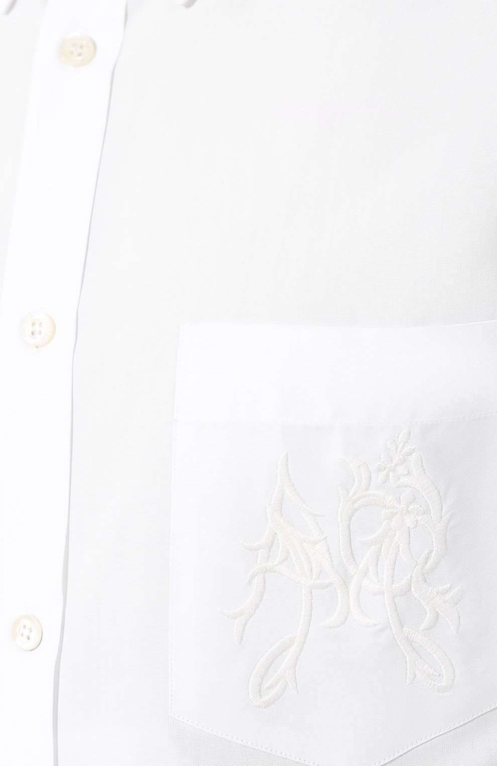 Хлопковая рубашка с воротником button down | Фото №5