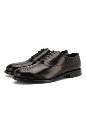 Мужские кожаные оксфорды  TOD'S черного цвета, арт. XXM0XR0BC60AKT | Фото 1