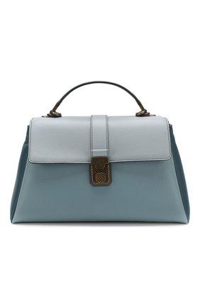 Женская сумка piazza large BOTTEGA VENETA голубого цвета, арт. 495848/VCGP0 | Фото 1
