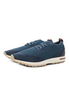 Мужские текстильные кроссовки 360 lp walk LORO PIANA синего цвета, арт. FAI1540 | Фото 1
