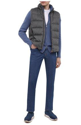 Мужские текстильные кроссовки 360 lp walk LORO PIANA синего цвета, арт. FAI1540 | Фото 2