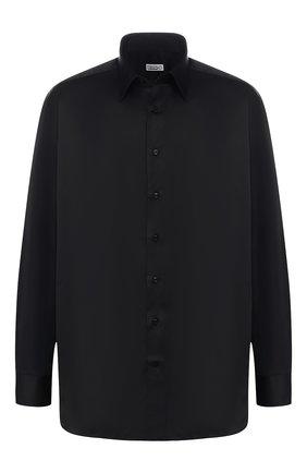 Мужская хлопковая рубашка с воротником кент ZILLI черного цвета, арт. MFQ-10804-10715/RZ01 | Фото 1