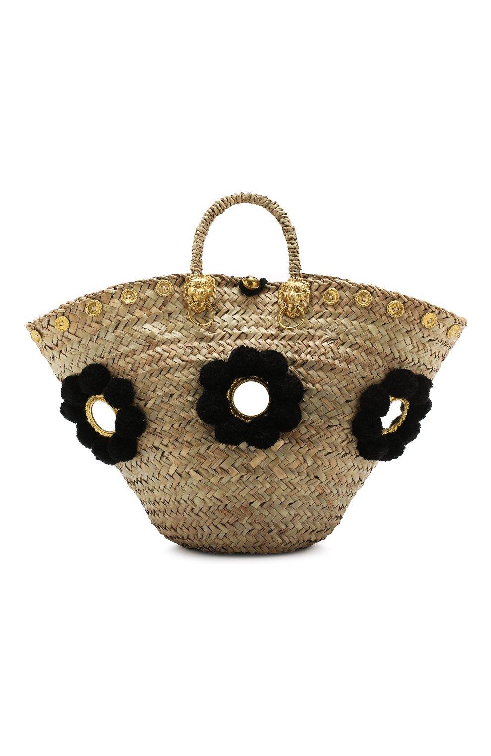 Женская сумка sicilian basket i MUZUNGU SISTERS черного цвета, арт. SICILIAN BASKET I/IT005   Фото 1