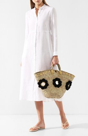 Женская сумка sicilian basket i MUZUNGU SISTERS черного цвета, арт. SICILIAN BASKET I/IT005   Фото 2