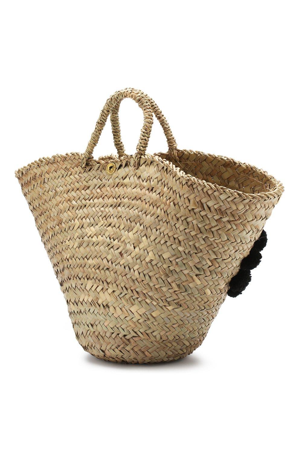 Женская сумка sicilian basket i MUZUNGU SISTERS черного цвета, арт. SICILIAN BASKET I/IT005   Фото 3
