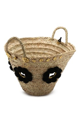 Женская сумка sicilian basket i MUZUNGU SISTERS черного цвета, арт. SICILIAN BASKET I/IT005   Фото 4