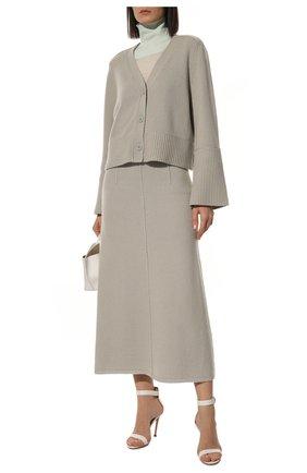 Женские кожаные босоножки portofino 105  GIANVITO ROSSI белого цвета, арт. G61096.15RIC.NAPBIAN | Фото 2