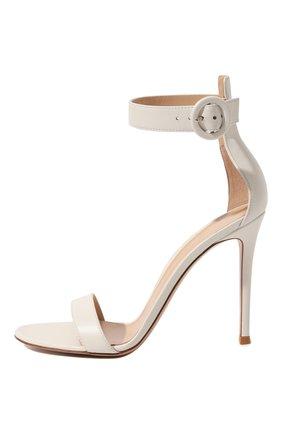 Женские кожаные босоножки portofino 105  GIANVITO ROSSI белого цвета, арт. G61096.15RIC.NAPBIAN | Фото 4