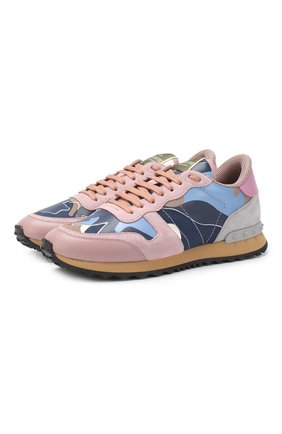 Комбинированные кроссовки Valentino Garavani Rockrunner | Фото №1