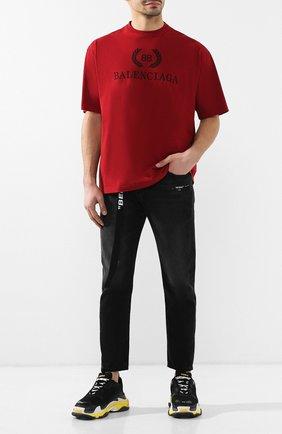 Мужские комбинированные кроссовки triple s BALENCIAGA черного цвета, арт. 534162/W090G | Фото 2