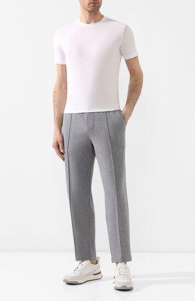 Мужская хлопковая футболка CRUCIANI белого цвета, арт. CUJ0SB.G30 | Фото 2