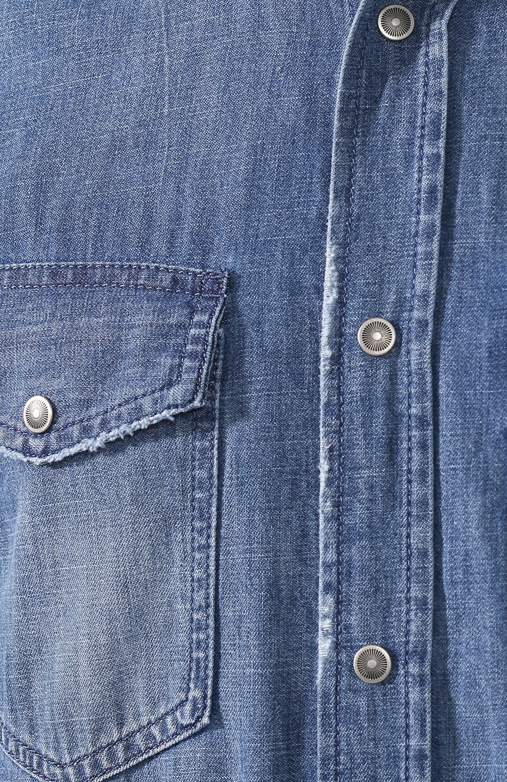 Хлопковая рубашка Diesel синяя | Фото №5