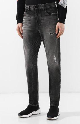Мужские джинсы DIESEL темно-серого цвета, арт. 00STD/0077S   Фото 3