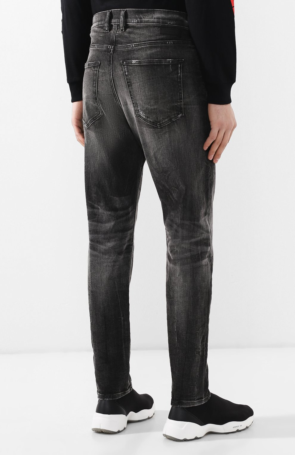 Мужские джинсы DIESEL темно-серого цвета, арт. 00STD/0077S   Фото 4