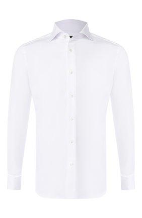 Мужская хлопковая сорочка ERMENEGILDO ZEGNA белого цвета, арт. 503901/9MS4BA | Фото 1