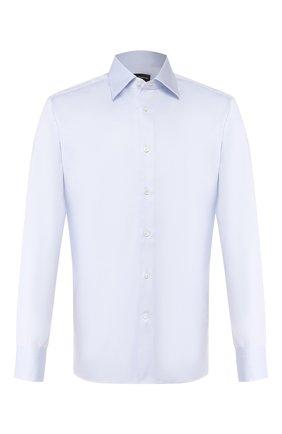Мужская хлопковая сорочка ERMENEGILDO ZEGNA голубого цвета, арт. 504002/9MS0PA | Фото 1