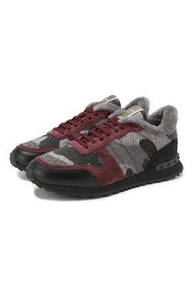Утепленные кроссовки Valentino Garavani Rockrunner | Фото №1