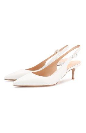 Женская кожаные туфли anna GIANVITO ROSSI белого цвета, арт. G93540.55RIC.VITBIAN | Фото 1