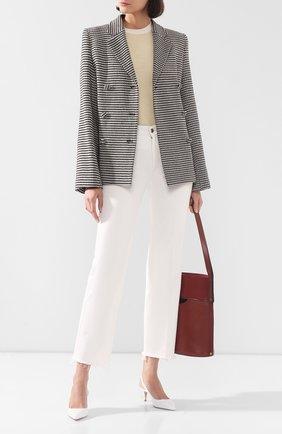 Женская кожаные туфли anna GIANVITO ROSSI белого цвета, арт. G93540.55RIC.VITBIAN | Фото 2
