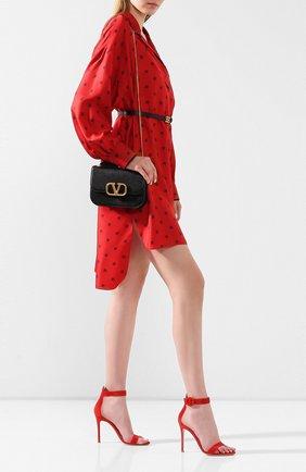 Женские замшевые босоножки portofino 105 GIANVITO ROSSI красного цвета, арт. G61096.15RIC.CAMTABS | Фото 2