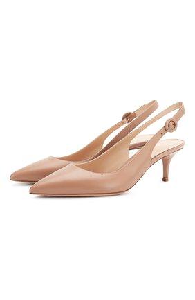 Женская кожаные туфли anna GIANVITO ROSSI розового цвета, арт. G93540.55RIC.VITPRAL | Фото 1