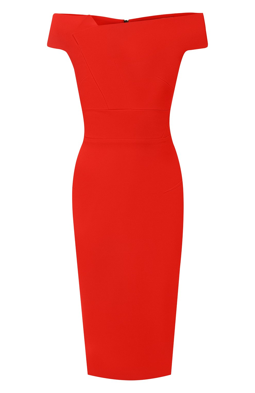 Приталенное платье-миди Roland Mouret красное | Фото №1