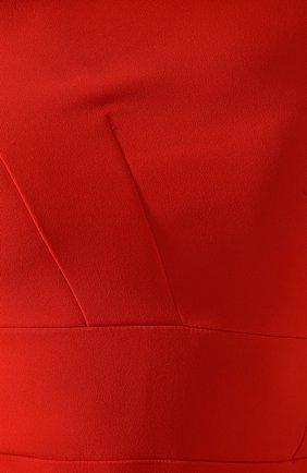 Приталенное платье-миди Roland Mouret красное | Фото №5