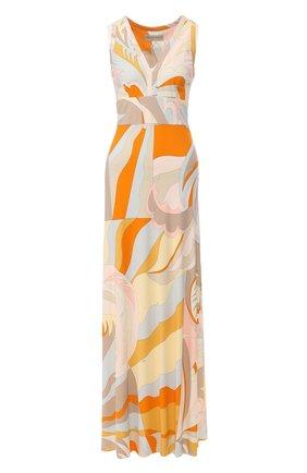 Платье-макси из смеси вискозы и шелка | Фото №1