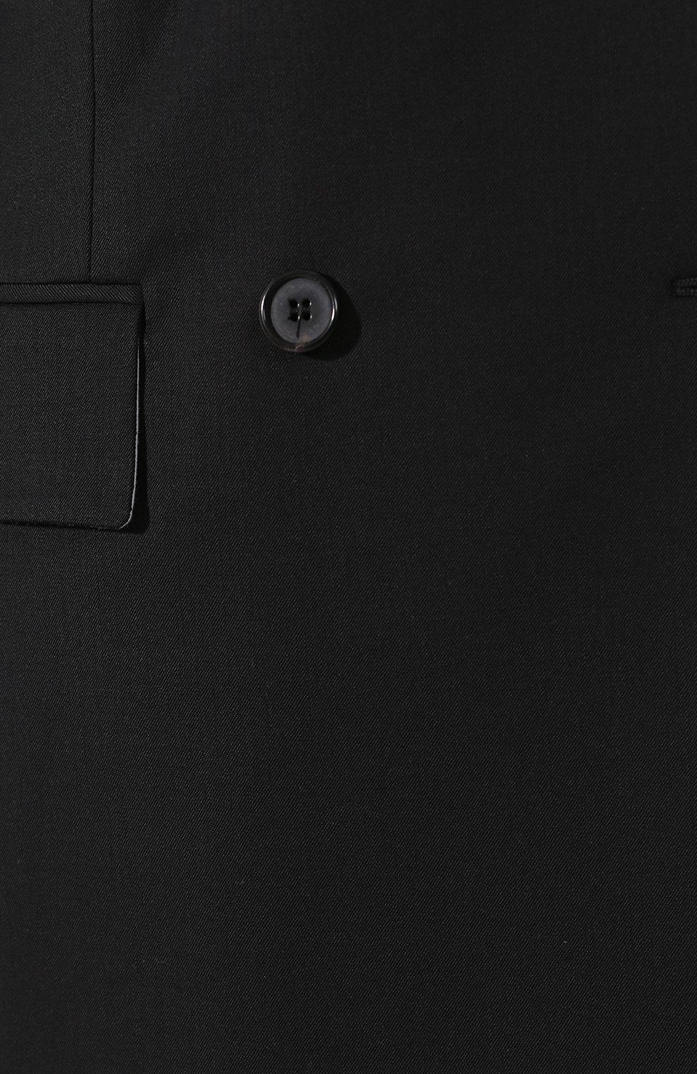 Двубортный шерстяной жакет CALVIN KLEIN 205W39NYC черный   Фото №5
