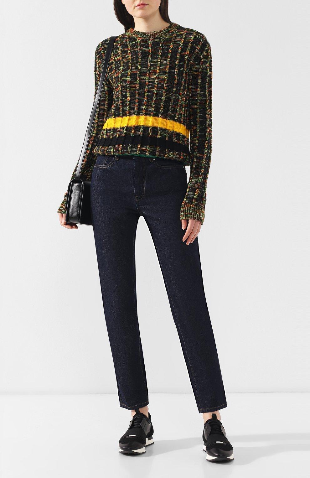 Шерстяной пуловер CALVIN KLEIN 205W39NYC разноцветный | Фото №2