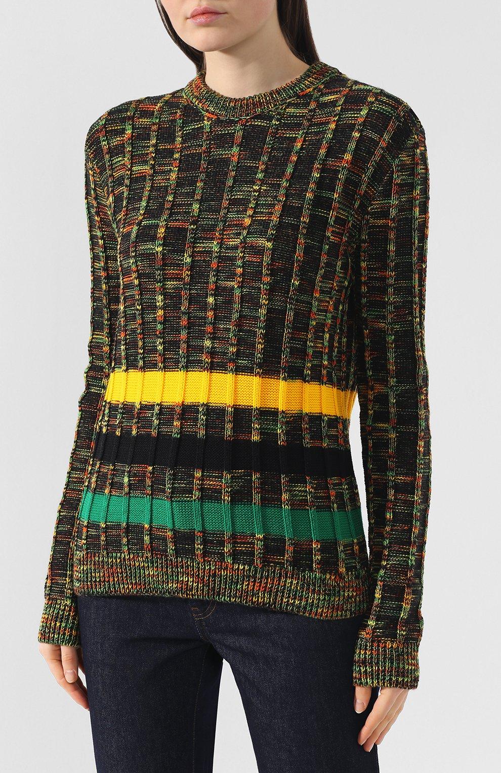 Шерстяной пуловер CALVIN KLEIN 205W39NYC разноцветный | Фото №3