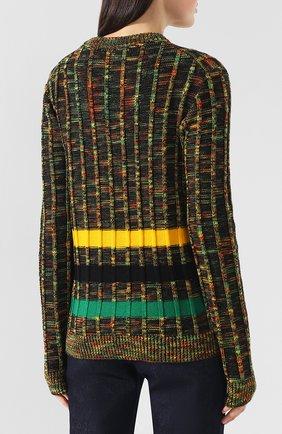 Шерстяной пуловер CALVIN KLEIN 205W39NYC разноцветный | Фото №4