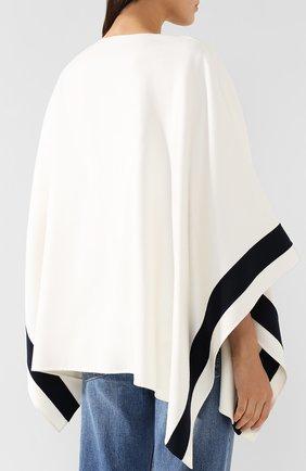 Кашемировая накидка Loro Piana белая | Фото №4