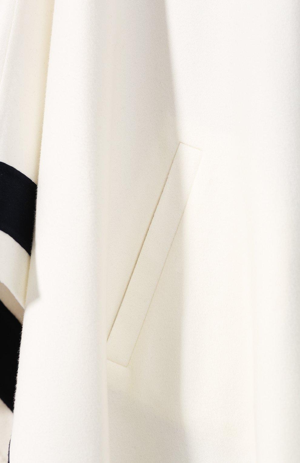 Кашемировая накидка Loro Piana белая | Фото №5