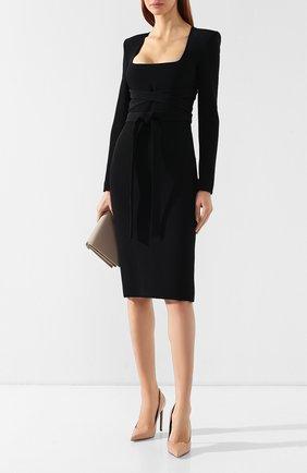 Женское платье из вискозы TOM FORD черного цвета, арт. AB2498-FAX459 | Фото 2