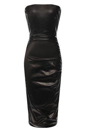 Женское кожаное платье TOM FORD черного цвета, арт. ABL057-LEX181 | Фото 1