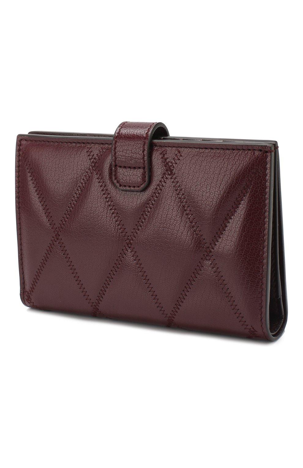 Кожаный кошелек GV3 Givenchy бордового цвета | Фото №2