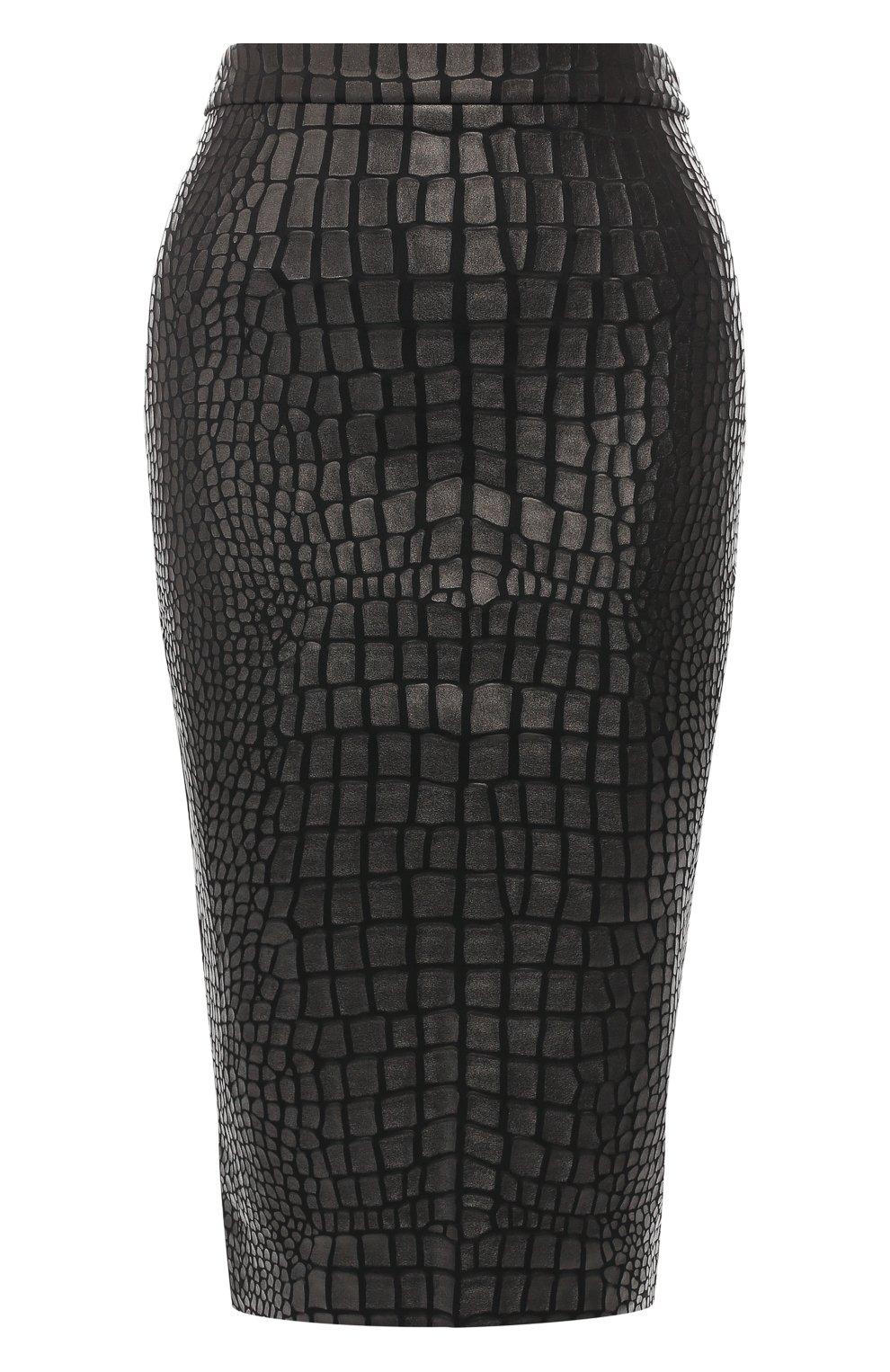Юбка из вискозы Tom Ford черная | Фото №1